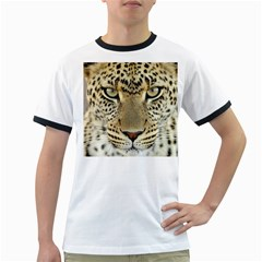 Leopard Face Ringer T Shirts