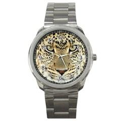 Leopard Face Sport Metal Watch