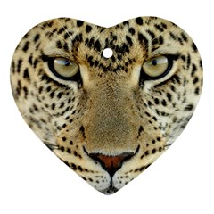 Leopard Face Heart Ornament (two Sides)