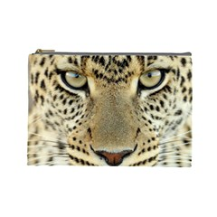 Leopard Face Cosmetic Bag (large)