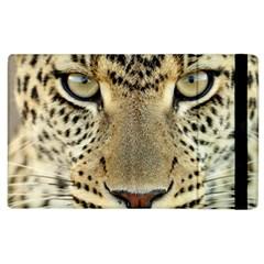 Leopard Face Apple Ipad 3/4 Flip Case