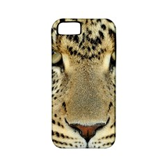 Leopard Face Apple Iphone 5 Classic Hardshell Case (pc+silicone)