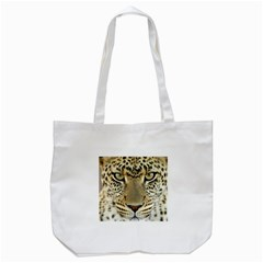 Leopard Face Tote Bag (white)