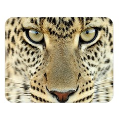 Leopard Face Double Sided Flano Blanket (large)