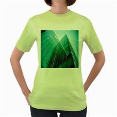 Glass Bulding Women s Green T Shirt