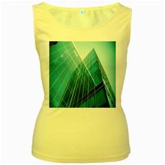 Glass Bulding Women s Yellow Tank Top
