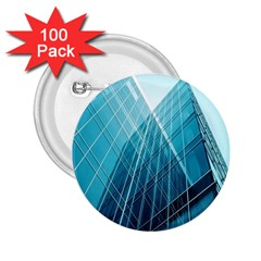 Glass Bulding 2 25  Buttons (100 Pack)