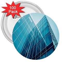 Glass Bulding 3  Buttons (100 Pack)