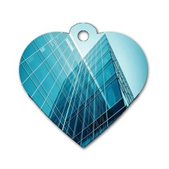 Glass Bulding Dog Tag Heart (one Side)