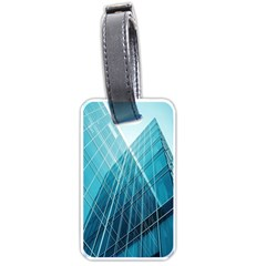 Glass Bulding Luggage Tags (one Side)