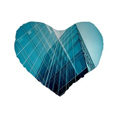 Glass Bulding Standard 16  Premium Heart Shape Cushions
