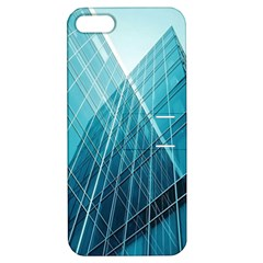 Glass Bulding Apple Iphone 5 Hardshell Case With Stand