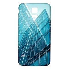 Glass Bulding Samsung Galaxy S5 Back Case (white)