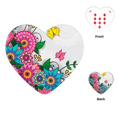 Flowers Pattern Vector Art Playing Cards (heart)