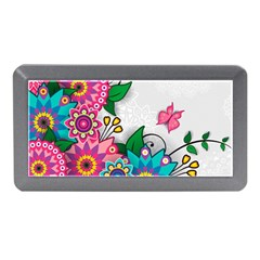 Flowers Pattern Vector Art Memory Card Reader (mini)