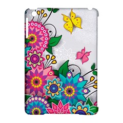 Flowers Pattern Vector Art Apple Ipad Mini Hardshell Case (compatible With Smart Cover)