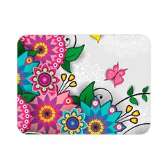 Flowers Pattern Vector Art Double Sided Flano Blanket (mini)