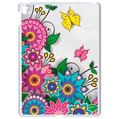 Flowers Pattern Vector Art Apple Ipad Pro 9 7   White Seamless Case