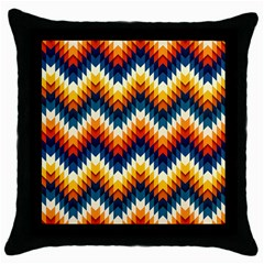 The Amazing Pattern Library Throw Pillow Case (black)