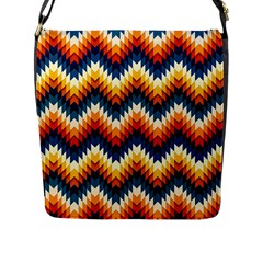 The Amazing Pattern Library Flap Messenger Bag (l)