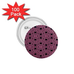 Triangle Knot Pink And Black Fabric 1 75  Buttons (100 Pack)