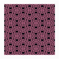 Triangle Knot Pink And Black Fabric Medium Glasses Cloth (2 Side)