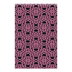 Triangle Knot Pink And Black Fabric Shower Curtain 48  X 72  (small)