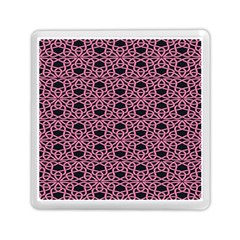Triangle Knot Pink And Black Fabric Memory Card Reader (square)