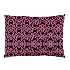 Triangle Knot Pink And Black Fabric Pillow Case (two Sides)