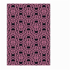 Triangle Knot Pink And Black Fabric Large Garden Flag (two Sides)