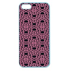 Triangle Knot Pink And Black Fabric Apple Seamless Iphone 5 Case (color)