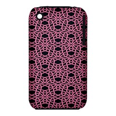 Triangle Knot Pink And Black Fabric Iphone 3s/3gs