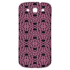 Triangle Knot Pink And Black Fabric Samsung Galaxy S3 S Iii Classic Hardshell Back Case