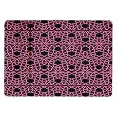 Triangle Knot Pink And Black Fabric Samsung Galaxy Tab 10 1  P7500 Flip Case