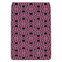 Triangle Knot Pink And Black Fabric Flap Covers (l)