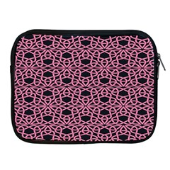 Triangle Knot Pink And Black Fabric Apple Ipad 2/3/4 Zipper Cases
