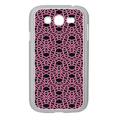 Triangle Knot Pink And Black Fabric Samsung Galaxy Grand Duos I9082 Case (white)