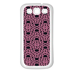 Triangle Knot Pink And Black Fabric Samsung Galaxy S3 Back Case (white)
