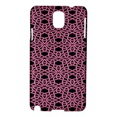 Triangle Knot Pink And Black Fabric Samsung Galaxy Note 3 N9005 Hardshell Case
