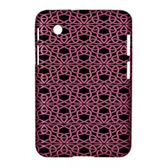 Triangle Knot Pink And Black Fabric Samsung Galaxy Tab 2 (7 ) P3100 Hardshell Case