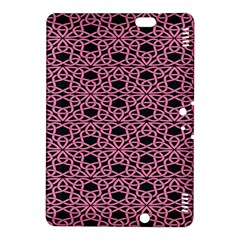 Triangle Knot Pink And Black Fabric Kindle Fire Hdx 8 9  Hardshell Case