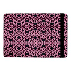 Triangle Knot Pink And Black Fabric Samsung Galaxy Tab Pro 10 1  Flip Case