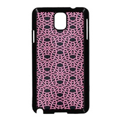 Triangle Knot Pink And Black Fabric Samsung Galaxy Note 3 Neo Hardshell Case (black)
