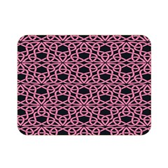 Triangle Knot Pink And Black Fabric Double Sided Flano Blanket (mini)