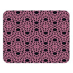 Triangle Knot Pink And Black Fabric Double Sided Flano Blanket (large)