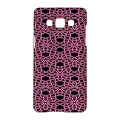 Triangle Knot Pink And Black Fabric Samsung Galaxy A5 Hardshell Case