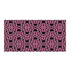 Triangle Knot Pink And Black Fabric Satin Wrap