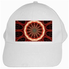 Circle Pattern White Cap