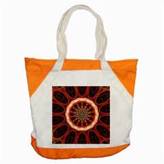 Circle Pattern Accent Tote Bag