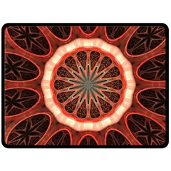 Circle Pattern Fleece Blanket (large)